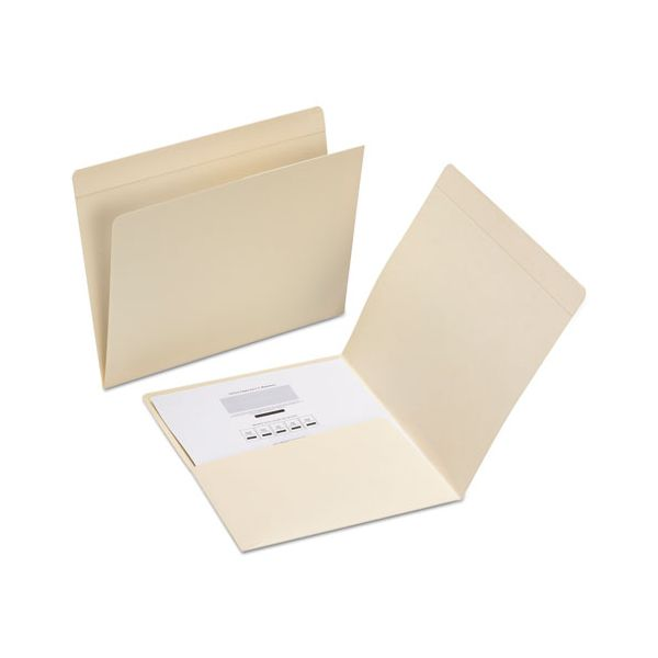 Smead File Folders, Straight Top Tab, Letter, Manila, 50/Box