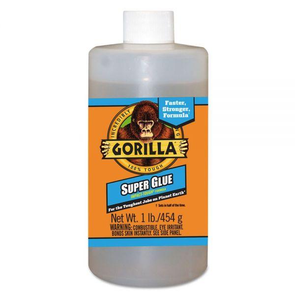 Gorilla Glue Instant Bond Superglue, 1 lb Bottle, Clear