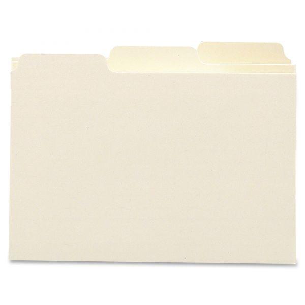 Smead Self-Tab Card Guides, Blank, 1/3 Tab, Manila, 5 x 8, 100 per Box
