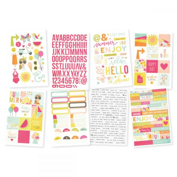 "Sunshine & Happiness Stickers 4""X6"" Sheets 8/Pkg"