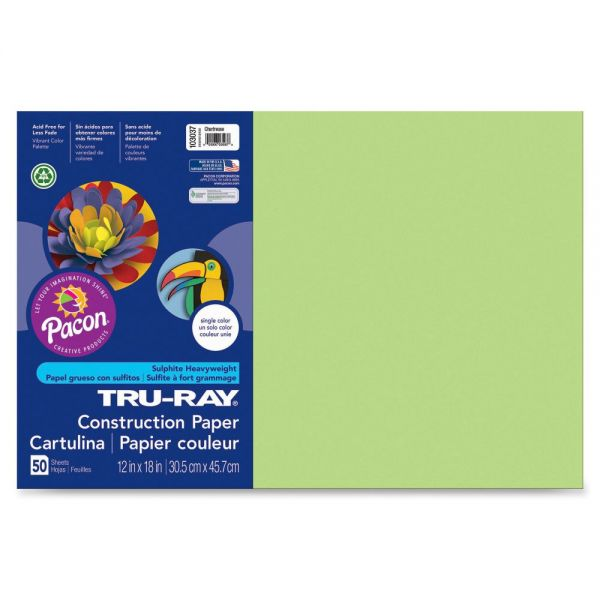 Pacon Tru-Ray Green Construction Paper