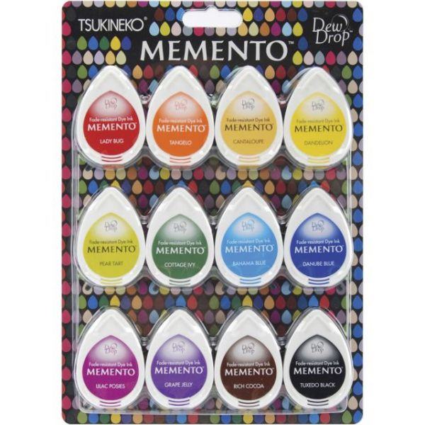 Memento Dew Drops Dye Ink Pads 12/Pkg