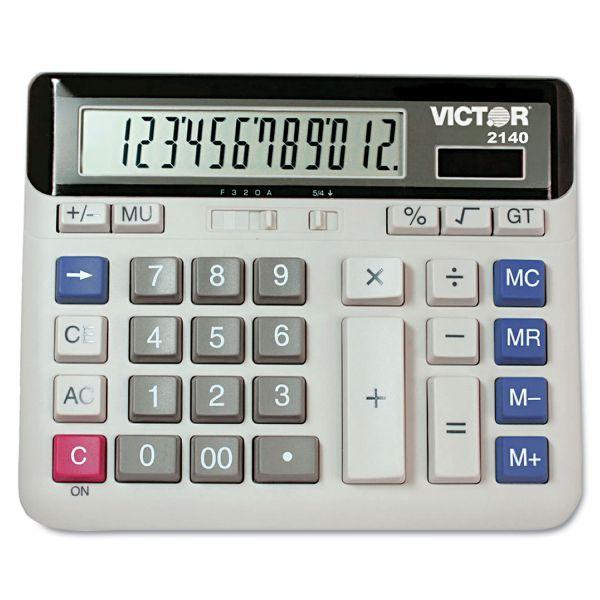Victor 2140 Desktop Business Calculator, 12-Digit LCD