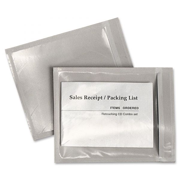 Quality Park Clear Front Self-Adhesive Packing List Envelope, 6 x 4 1/2, 1000/box