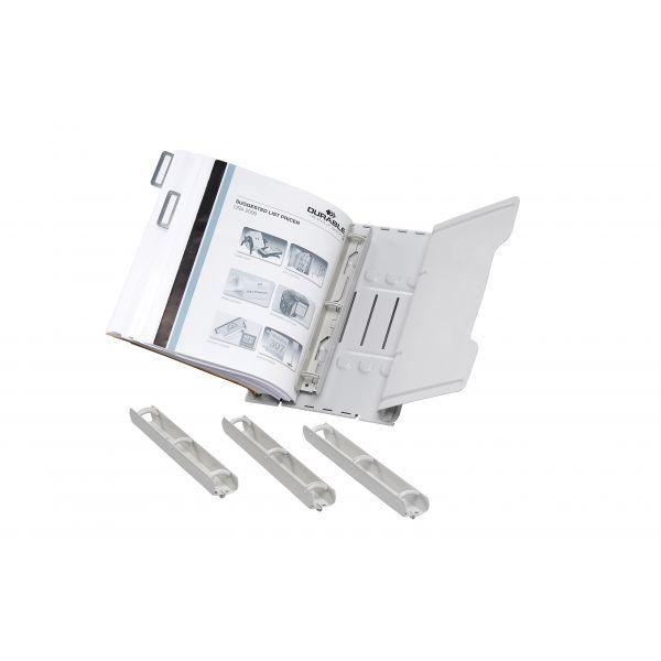 Durable Desk-Mounted Catalog Rack, 6 1-inch Rings, Gray