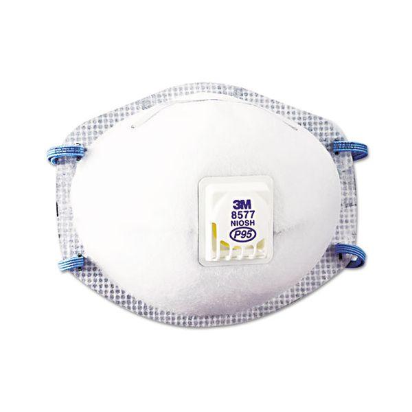 3M Particulate Respirator 8577, P95, 10/Box