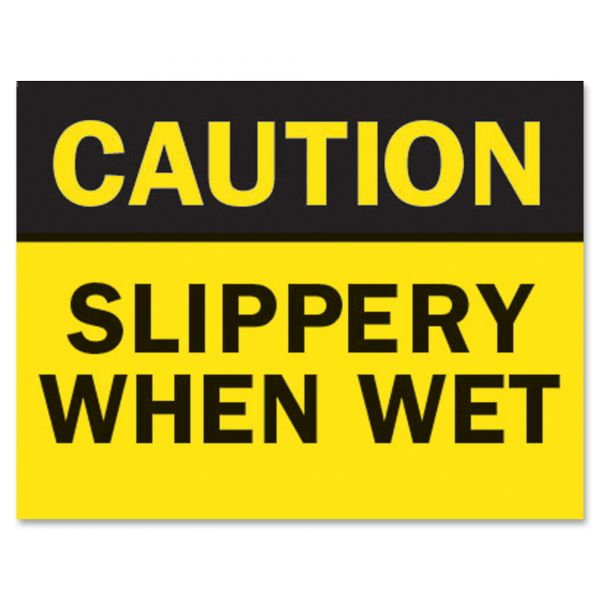 """Tarifold Safety Sign Inserts-""""Caution ... Wet"""""""