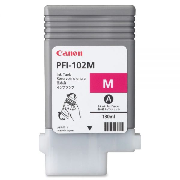 Canon PFI-102M Magenta Ink Tank (0897B001AA)