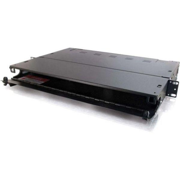 C2G Quicktron Q-Series 1u 3-Panel Rackmount Fiber Optic Enclosure