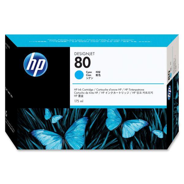 HP 80, (C4872A) Cyan Original Ink Cartridge