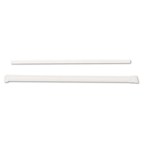 "Dixie Jumbo Straws, 7 3/4"", Plastic, Translucent, 500/Box"