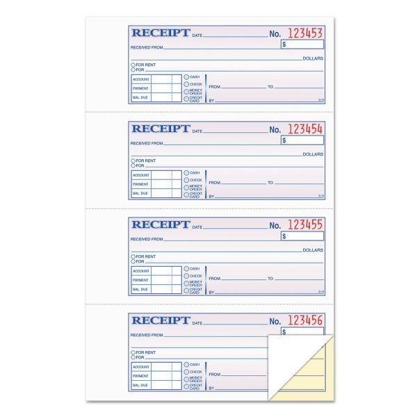Tops Manifold Money/Rent 2-Part Receipt Book