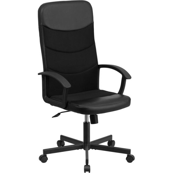 Flash Furniture High Back Racing Executive Swivel Office Chair [CP-A301A01-BK-GG]
