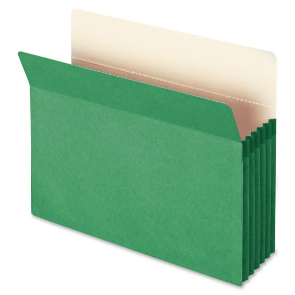 Smead 73236 Green Colored Expanding File Pocket