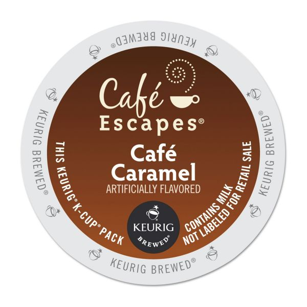 Café Escapes Café Caramel Coffee K-Cups