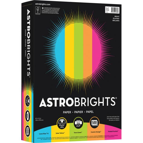 Astrobrights Inkjet, Laser Print Colored Paper