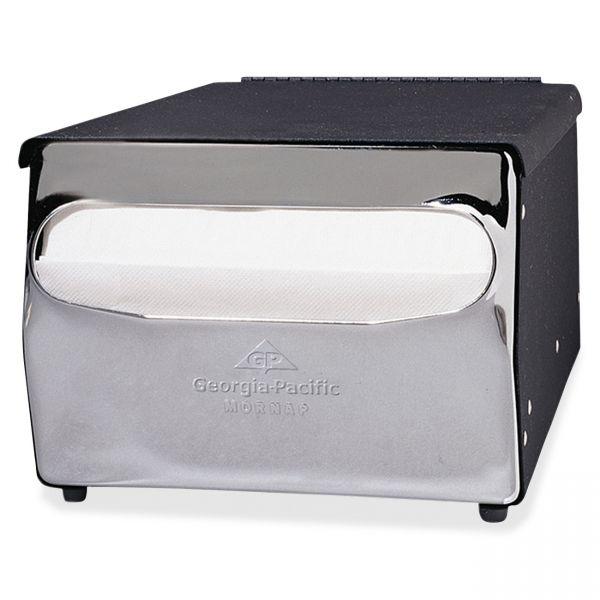 Georgia Pacific Professional Mini MorNap Mini-Fold Tabletop Napkin Dispenser, 7 1/2 x 6 x 4 3/8, Black/Chrome