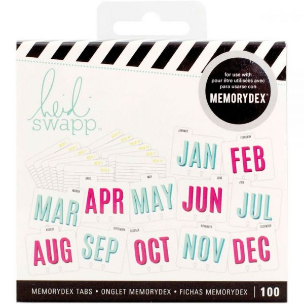 Heidi Swapp Memorydex File Cards & Tabbed Dividers 100/Pkg