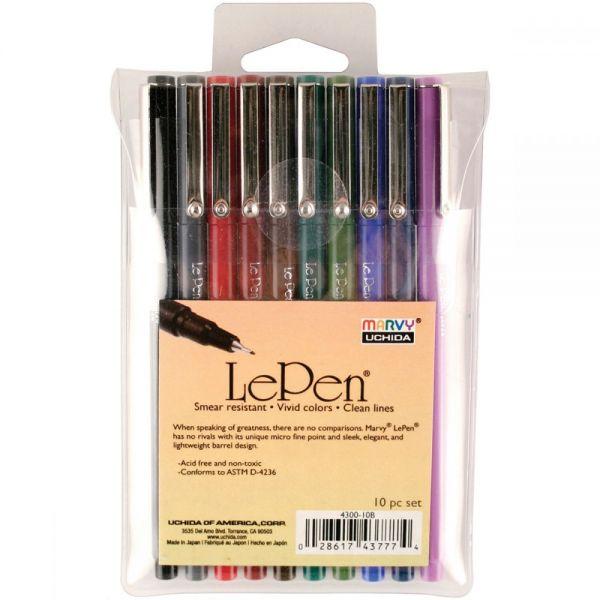 Le Pen Dark Set 10/Pkg
