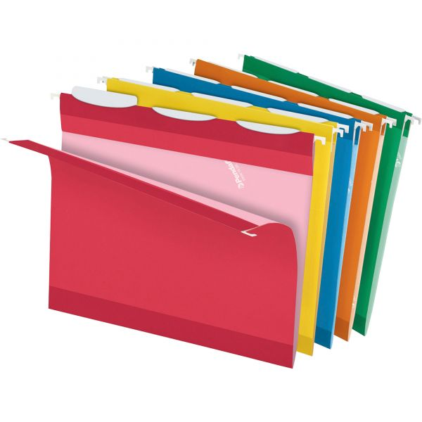 Pendaflex Colored Reinforced Hanging Folders, 1/3 Tab, Letter, Asst, 25/Box