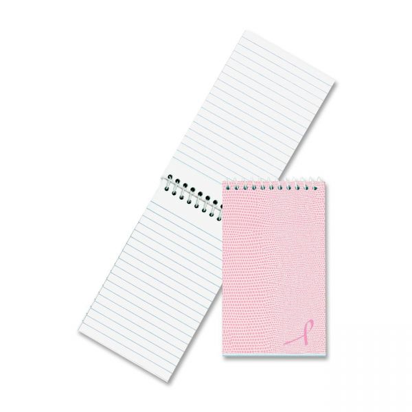 National Brand Pink Ribbon Memo Notebook