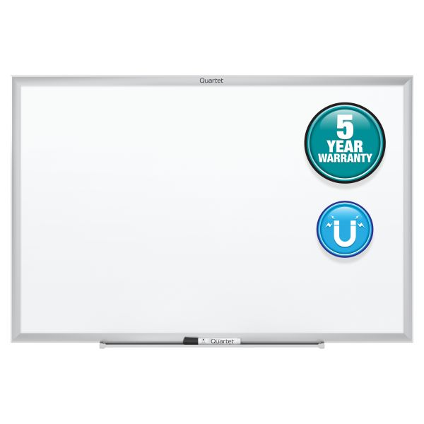 "Quartet 60"" x 36"" Standard Magnetic Painted Steel Dry Erase Whiteboard"