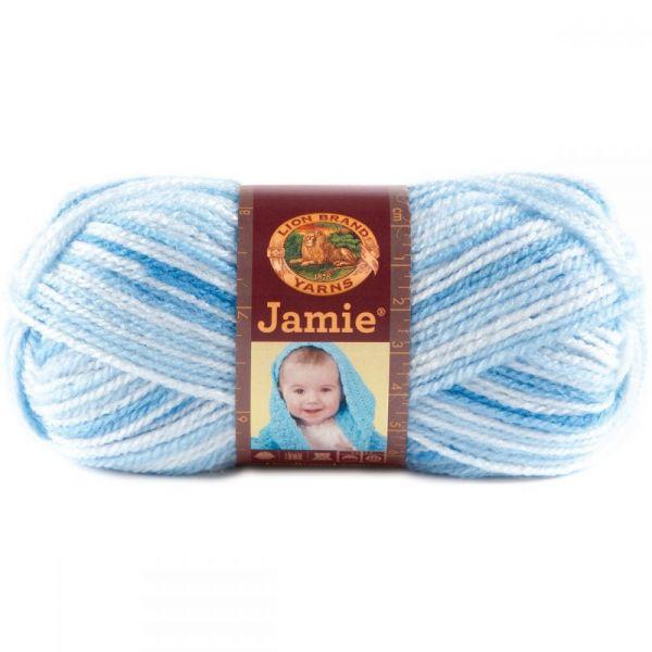 Lion Brand Jamie Yarn - Blue Stripes