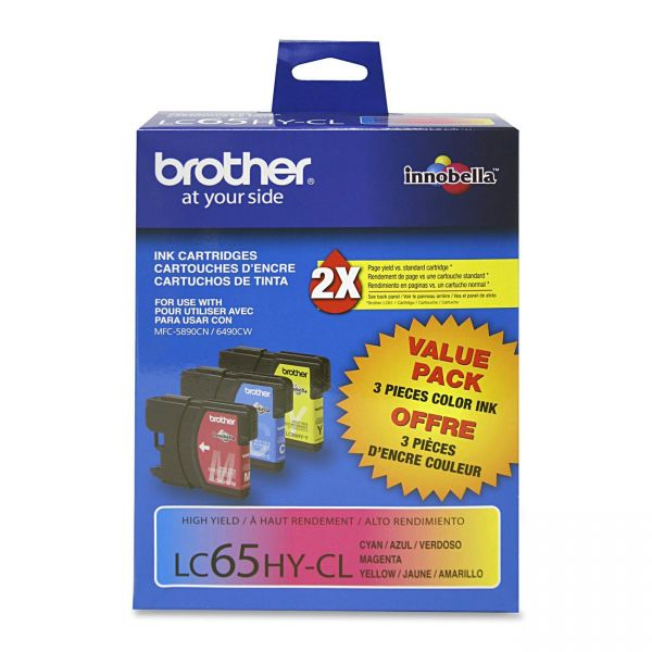 Brother LC65HYCL Color High Yield Ink Cartridges