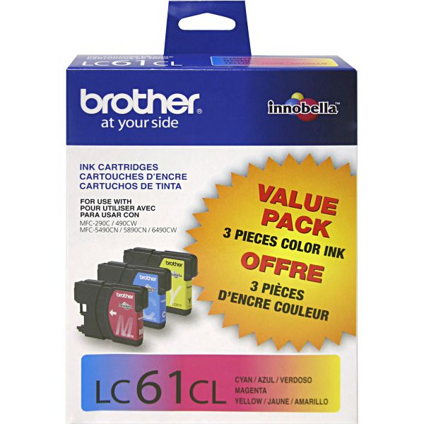 Brother LC61CL Color Ink Cartridges