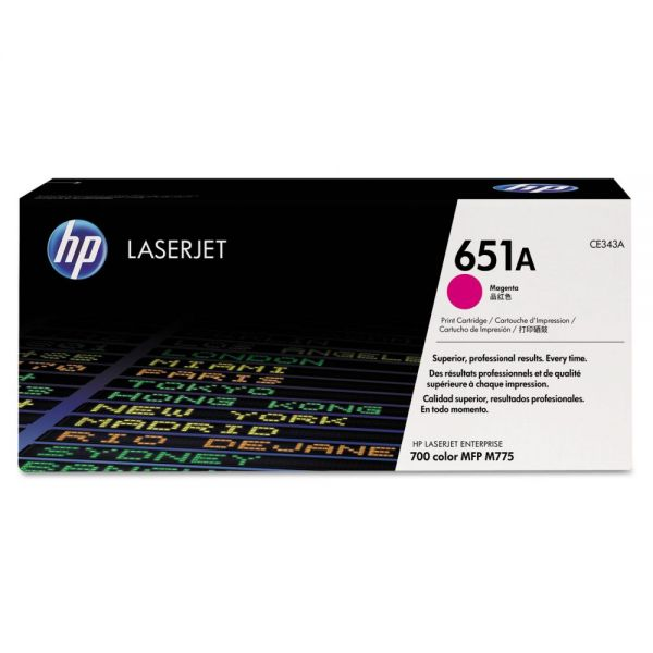 HP 651A Magenta Toner Cartridge (CE343A)