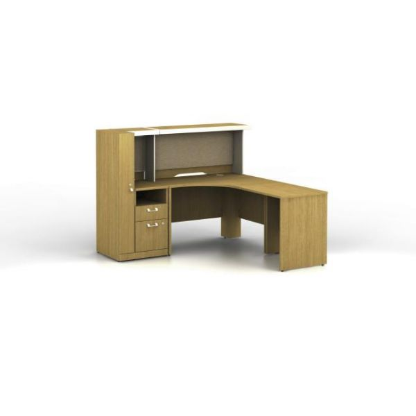 bbf Quantum Administrative Configuration - Modern Cherry finish by Bush Furniture