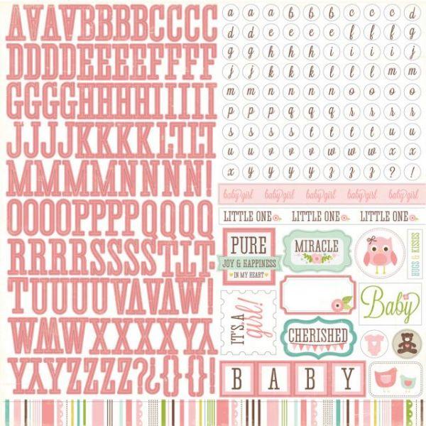 "Bundle Of Joy Girl Cardstock Stickers 12""X12"""