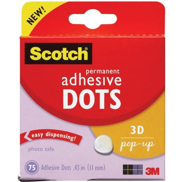 Scotch Permanent 3D Pop-Up Adhesive Dots