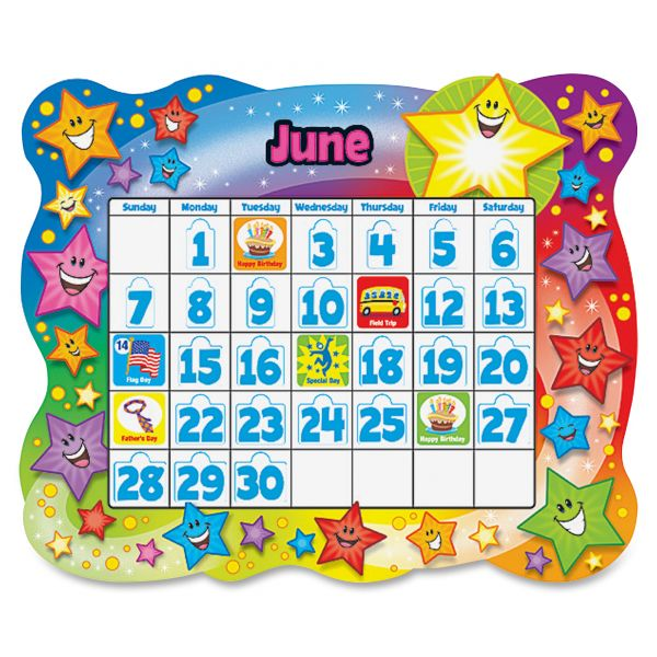 Trend Star Calendar Bulletin Board Set