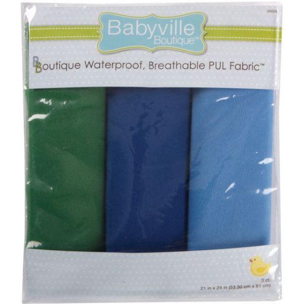 "Babyville PUL Waterproof Diaper Fabric 21""X24"" Cuts 3/Pkg"