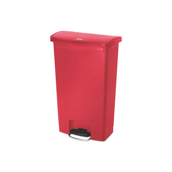 Rubbermaid Commercial Slim Jim Step-On 18 Gallon Trash Can