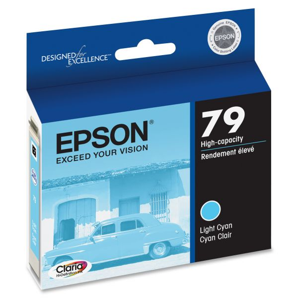 Epson 79 Light Cyan High-Capacity Ink Cartridge (T079520)
