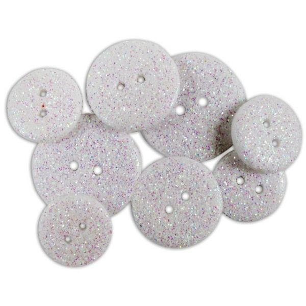 Favorite Findings Glitter Buttons