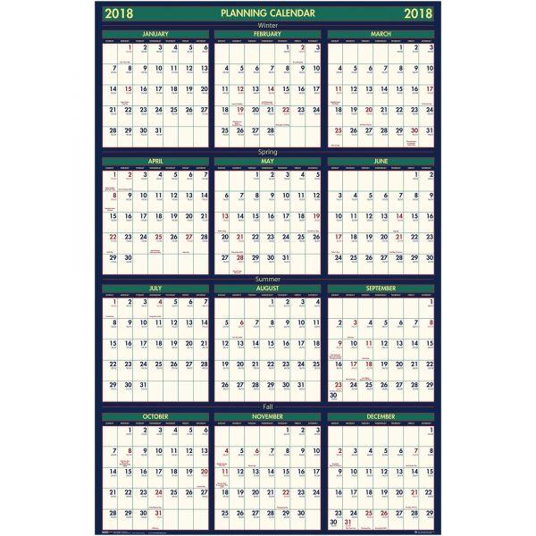 House of Doolittle Reversible Academic Yearly Wall Calendar