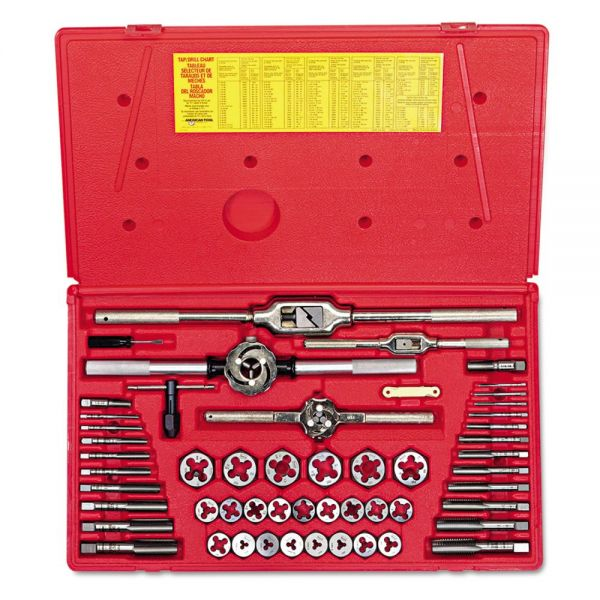 IRWIN HANSON Tap & Die Set, Steel, 53 Pieces
