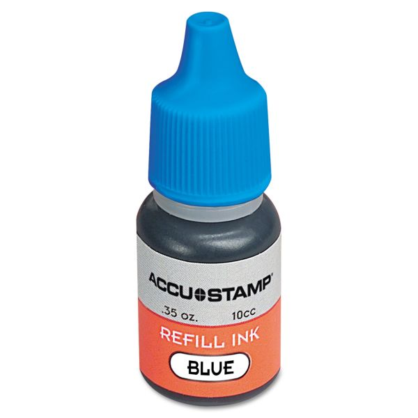 Accu stamp gel ink refill, blue, 0.35 oz. bottle