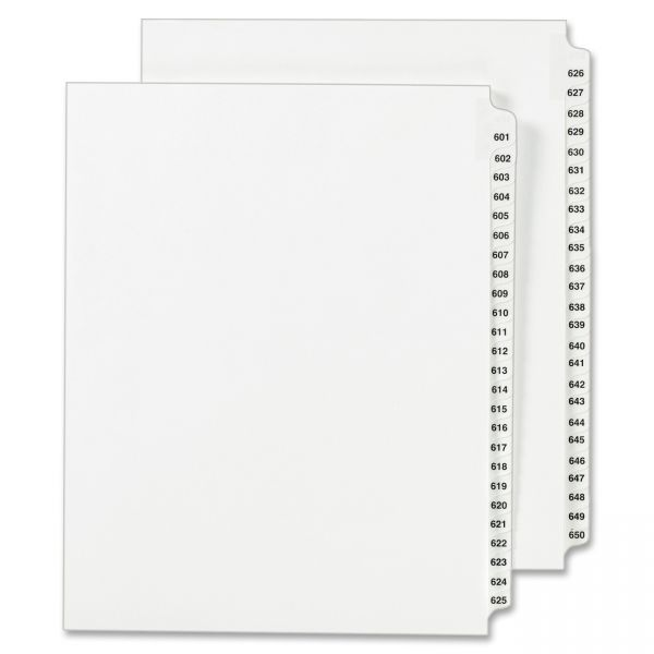 Avery Side Tab Legal Index Dividers