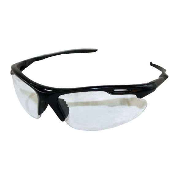 Impact ProGuard Optirunner Safety Glasses, Black Frame/Clear Lens, One Size Fits All