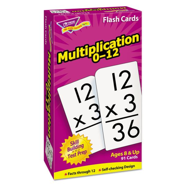 TREND Skill Drill Flash Cards, 3 x 6, Multiplication
