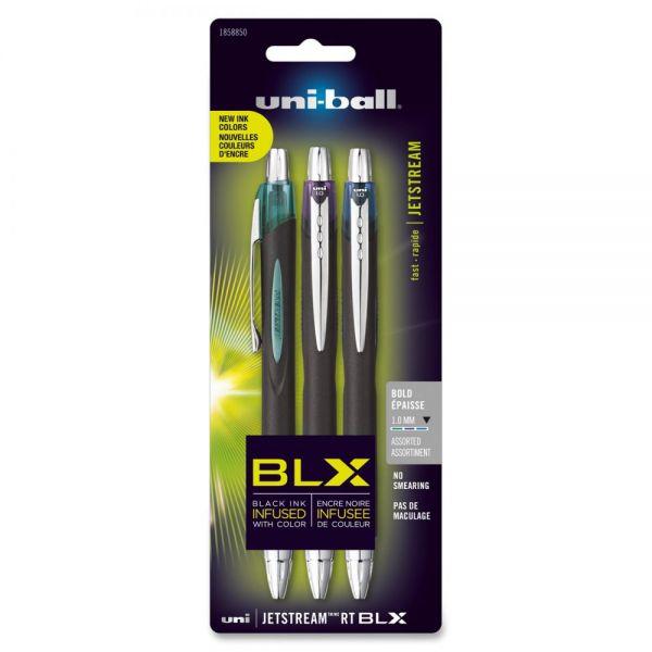 Uni-Ball Jetstream RT BLX Retractable Rollerball Pens