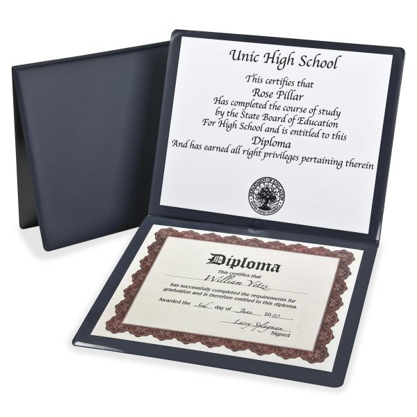 Oxford Navy Blue Certificate Holder