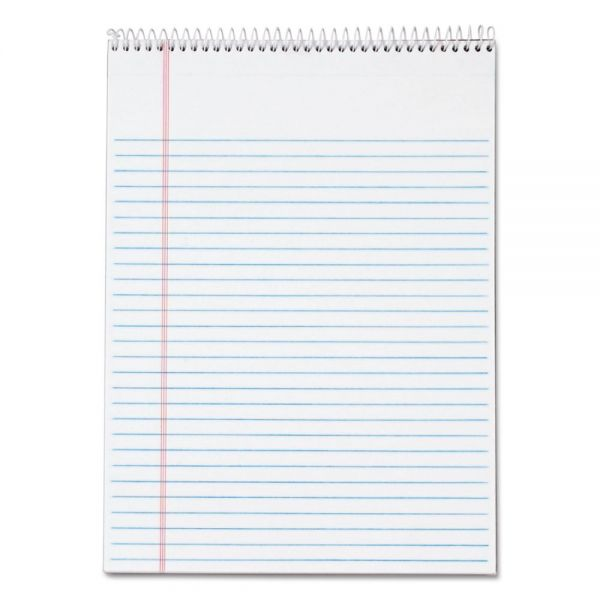 TOPS Docket Wirebound Letter-Size White Legal Pad