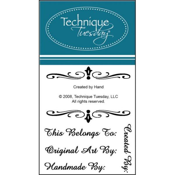 """Technique Tuesday Clear Stamps 2""""X2.5"""""""