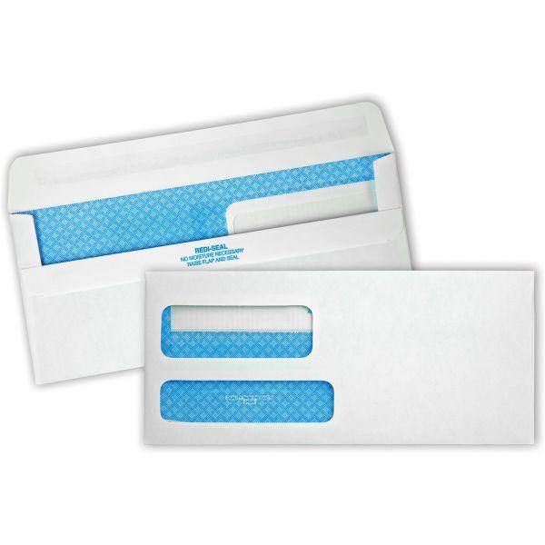 Quality Park 2-Window Redi-Seal Security-Tinted Envelope, #9, 3 7/8 x 8 7/8, White, 500/Box