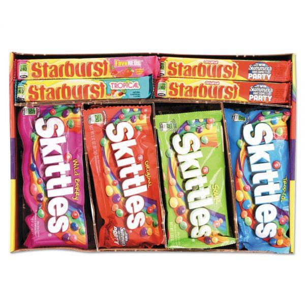 Wrigley's Skittles & Starburst Candy Variety Pack